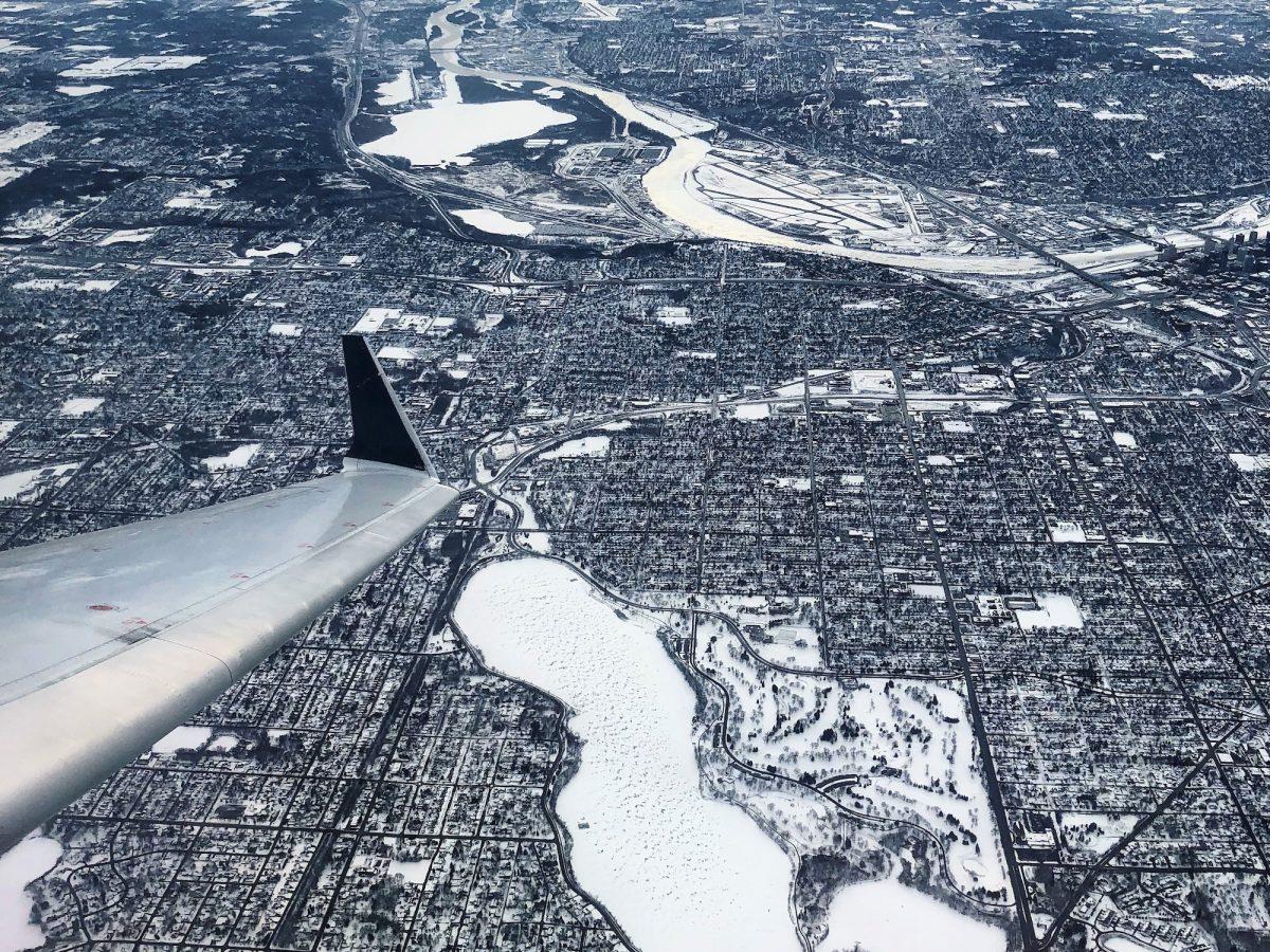 Minneapolis plane shot