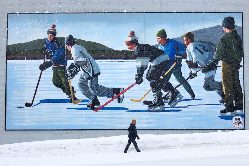 Hockey in Eveleth, Minnesota