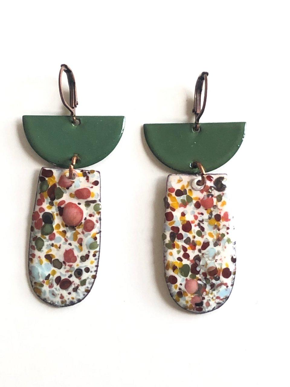 Polymer clay art beads Clay spike beads Handmade in Minnesota. Bead set